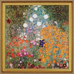 """Bild """"Blumengarten"""", gerahmt"""