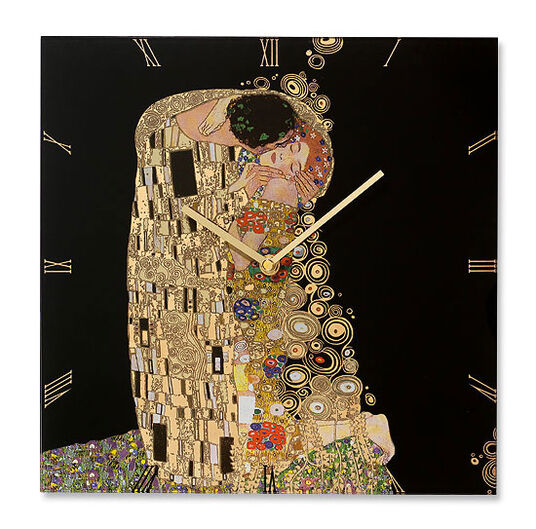 "Gustav Klimt: Wall clock ""The Kiss"""
