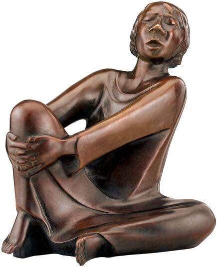"Ernst Barlach: Sculpture ""The Singing Man"" (1928), reduction in bronze"