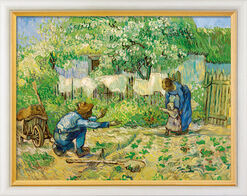 """Bild """"Die ersten Schritte"""" (1890), gerahmt"""