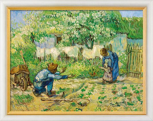 """Vincent van Gogh: Bild """"Die ersten Schritte"""" (1890), gerahmt"""