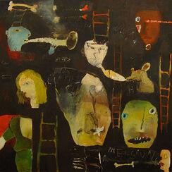 """Bild """"Meldegänger und Demagogen"""" (2000) (Original / Unikat), ungerahmt"""
