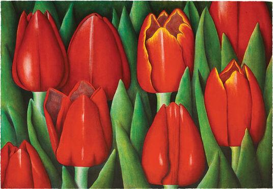 """Eva Boström: Bild """"Tulipes Rouges"""" (2004), ungerahmt"""