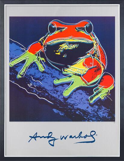 """Andy Warhol: Bild """"Frosch"""", gerahmt"""