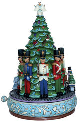 "Music Box ""Christmas"", Artificial Casting Painted by Hand"