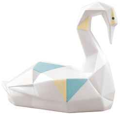 "Porcelain Figure ""Swan"", Colorful Version"