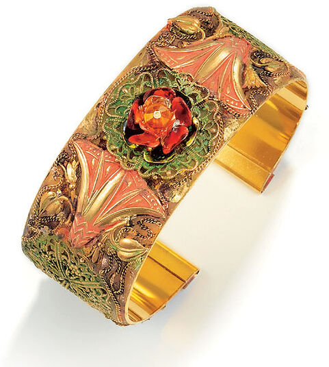 Petra Waszak: Bangle 'The Rosebush' - after Monet
