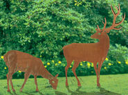 "Garden Plugs ""Deer and Doe"""