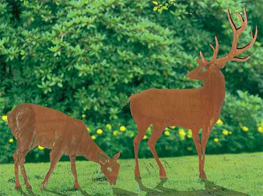 """Garden Plugs """"Deer and Doe"""""""