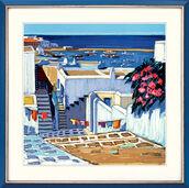 """Bild """"Linge au soleil à Mykonos"""" (2004), gerahmt"""