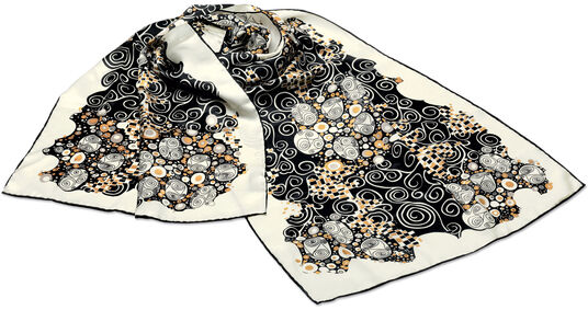"Art Nouveau-Scarf ""Inspiration Viennese Workshops"""