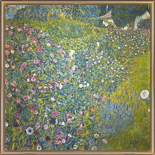"""Gustav Klimt: Bild """"Italienische Gartenlandschaft"""" (1913), gerahmt"""