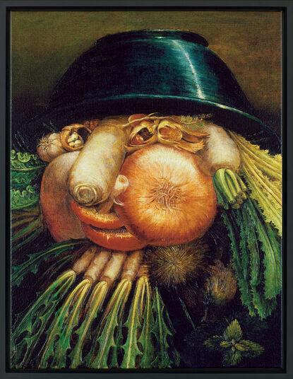 "Giuseppe Arcimboldo: Wendebild ""Der Gemüsegärtner"", ca. 1590, gerahmt"