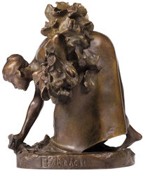 "Skulptur ""Die Krautpflückerin"" (1894), Reduktion in Bronze"