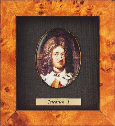 Miniature portrait of Friedrich I of Prussia (1657-1713)