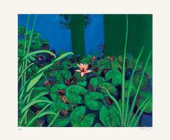 """Bild """"Seerosen und Gräser"""" (2009), ungerahmt"""