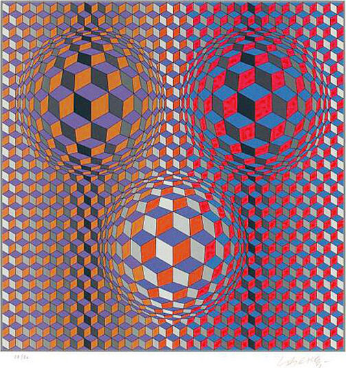 "Victor Vasarely: Picture ""Conjunction"" (1987)"