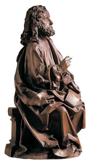 """Tilman Riemenschneider: Sculpture """"Evangelist Matthew"""", Artificial Casting"""