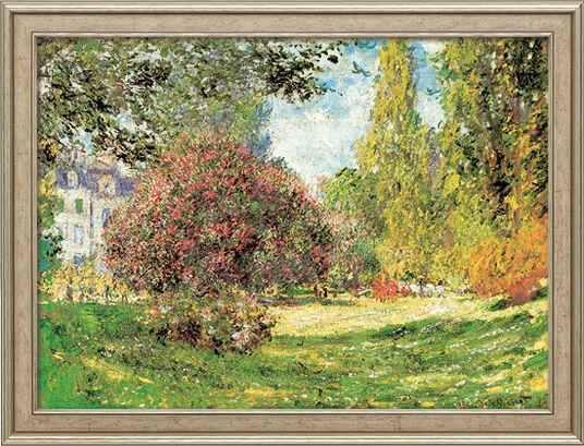 """Claude Monet: Picture """"The Park Monceau"""" (1876) framed"""