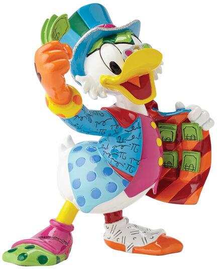 """Romero Britto: Skulptur """"Onkel Scrooge - Dagobert Duck"""", Kunstguss"""