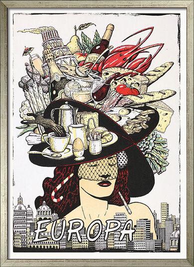 """Fernando Bellver: Bild """"Europa"""" - aus Bildfolge """"Fünf Kontinente"""", gerahmt"""