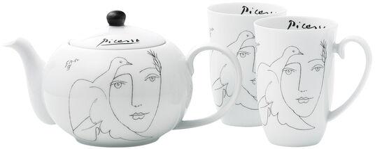 """Pablo Picasso: Teekanne und 2 Becher """"Le Visage"""" im Set"""