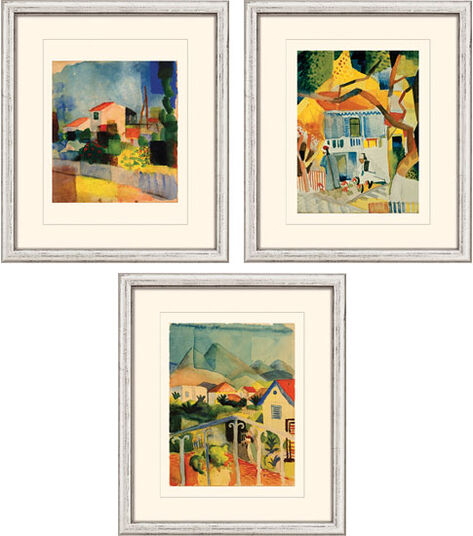 August Macke: 3 Bilder im Set