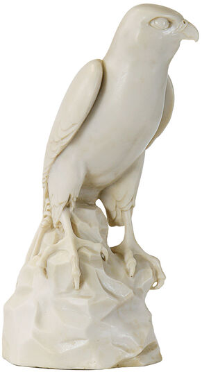 "Thomas Schöne: Skulptur ""Falke"", Version in Kunstmarmor"