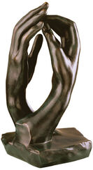 """Cathedral Hands"", 1908, bronze"