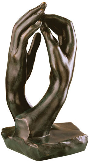 "Auguste Rodin: Skulptur ""Die Kathedrale"" (1908), Version in Bronze"