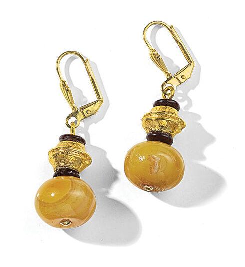 """Petra Waszak: Earrings """"Yellow Agate"""""""