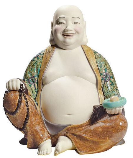 "Lladró: Porcelain Figure ""Laughing Buddha"" (Version without Base)"