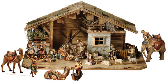 "Wood carving ""The Ulrich Crib"", 20 parts"