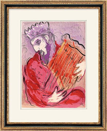 "Marc Chagall: Bild ""David mit der Harfe"" (1956)"