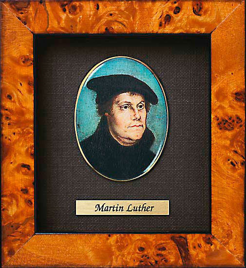 Miniature portrait of Martin Luther (1483-1546)