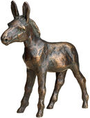 Sculpture 'Cash Cow' (Golden Donkey), bronze
