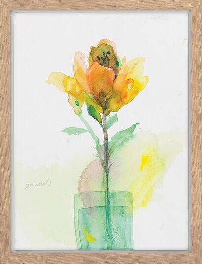 """Janosch: Bild """"Schöne Blume"""" (Unikat)"""
