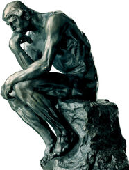 "Sculpture ""The Thinker"" (26 cm), artificial bronze"