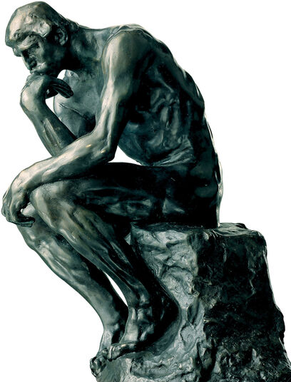 "Auguste Rodin: Sculpture ""The Thinker"" (26 cm), artificial bronze"