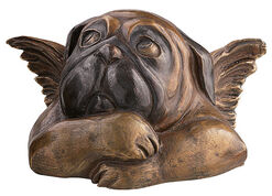 Sculpture 'Sistine Pug (with folded arms)', version in bronze