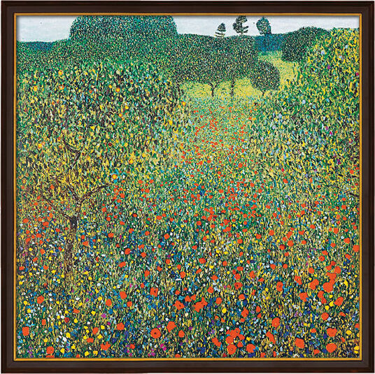"Gustav Klimt: Picture ""field with poppies"" (1905) into gallery Framing"