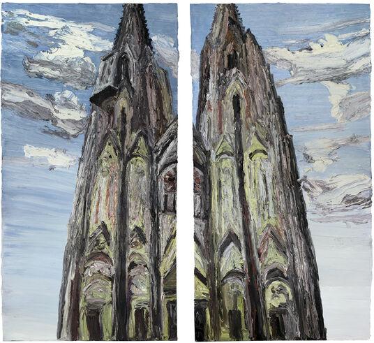 "Ben Kamili: 2-teiliges Bild ""Kathedrale (Köln)"" (2011) (Unikat)"