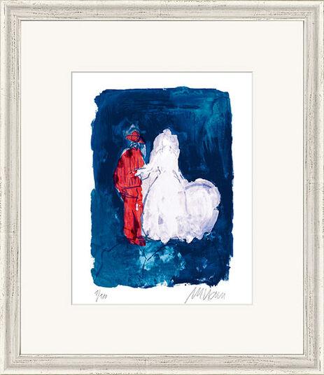 """Armin Mueller-Stahl: Bild """"Hochzeitspaar"""" (2014), gerahmt"""