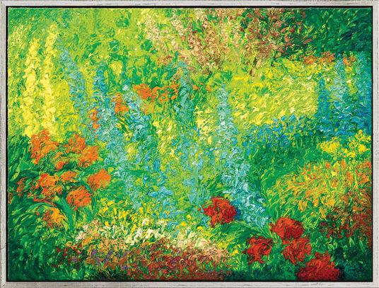 "Ansgar Skiba: Bild ""Garten"" (2011) (Original / Unikat), gerahmt"