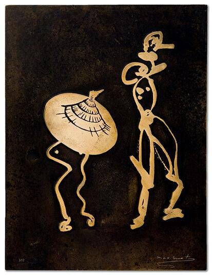 """Max Ernst: """"Bronzerelief VIII"""""""