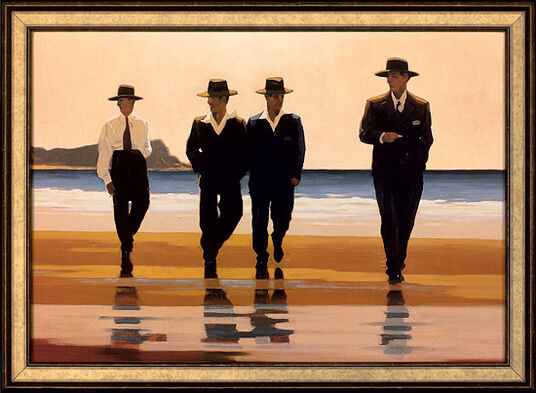 """Jack Vettriano: Picture """"The Billy Boys"""", gallery frame"""