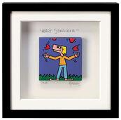 """Bild """"Heart Jongleur"""" (2009), gerahmt"""
