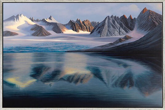 "Michael Krähmer: Bild ""Gletschersee"" (2012), gerahmt"