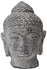 Buddha-Head, Stone Casting Antique Varnish