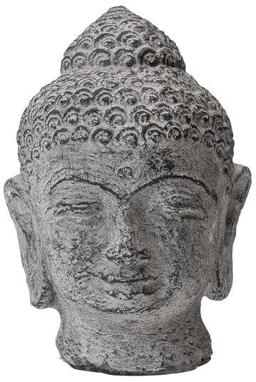 Buddha-Kopf, Steinguss Antikfinish